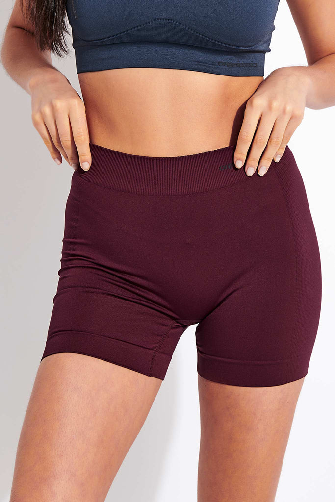 Organic Basics Active Yoga Shorts - Burgundy