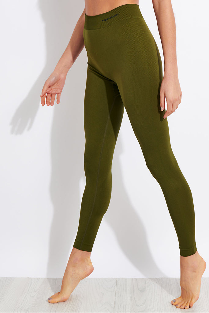 Organic Basics Active Leggings - Olive