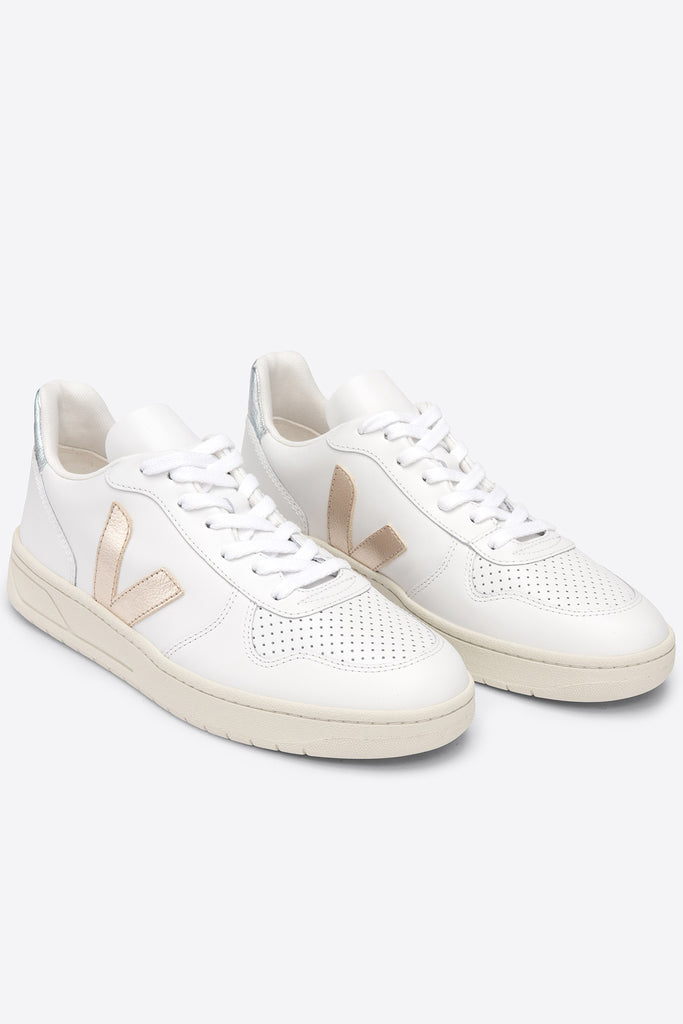 V-10 Leather - Extra-White Platine Silver | Women's