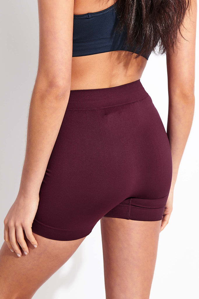 Active Yoga Shorts - Burgundy