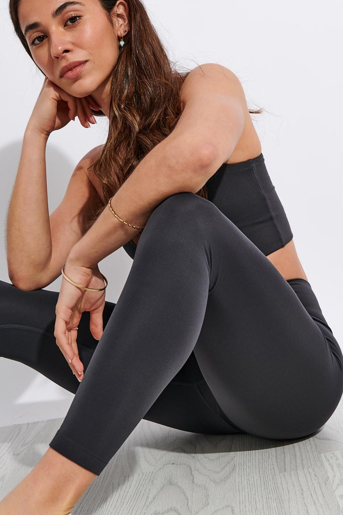 Girlfriend Collective FLOAT High Waisted 7/8 Legging - Shadow
