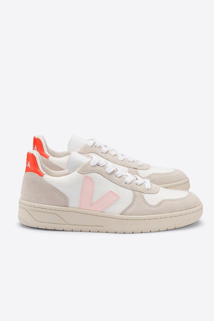V-10 B-Mesh - White/Petale/Orange | Women's