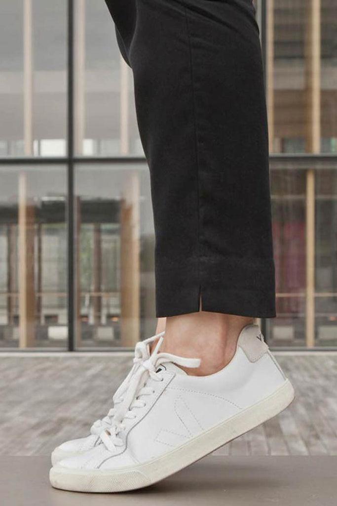 Esplar Leather White Trainers - Women's