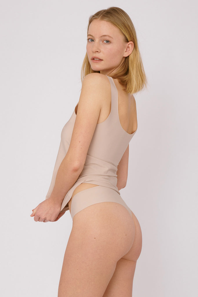 Invisible Cheeky Thong 2-pack - Rose Nude