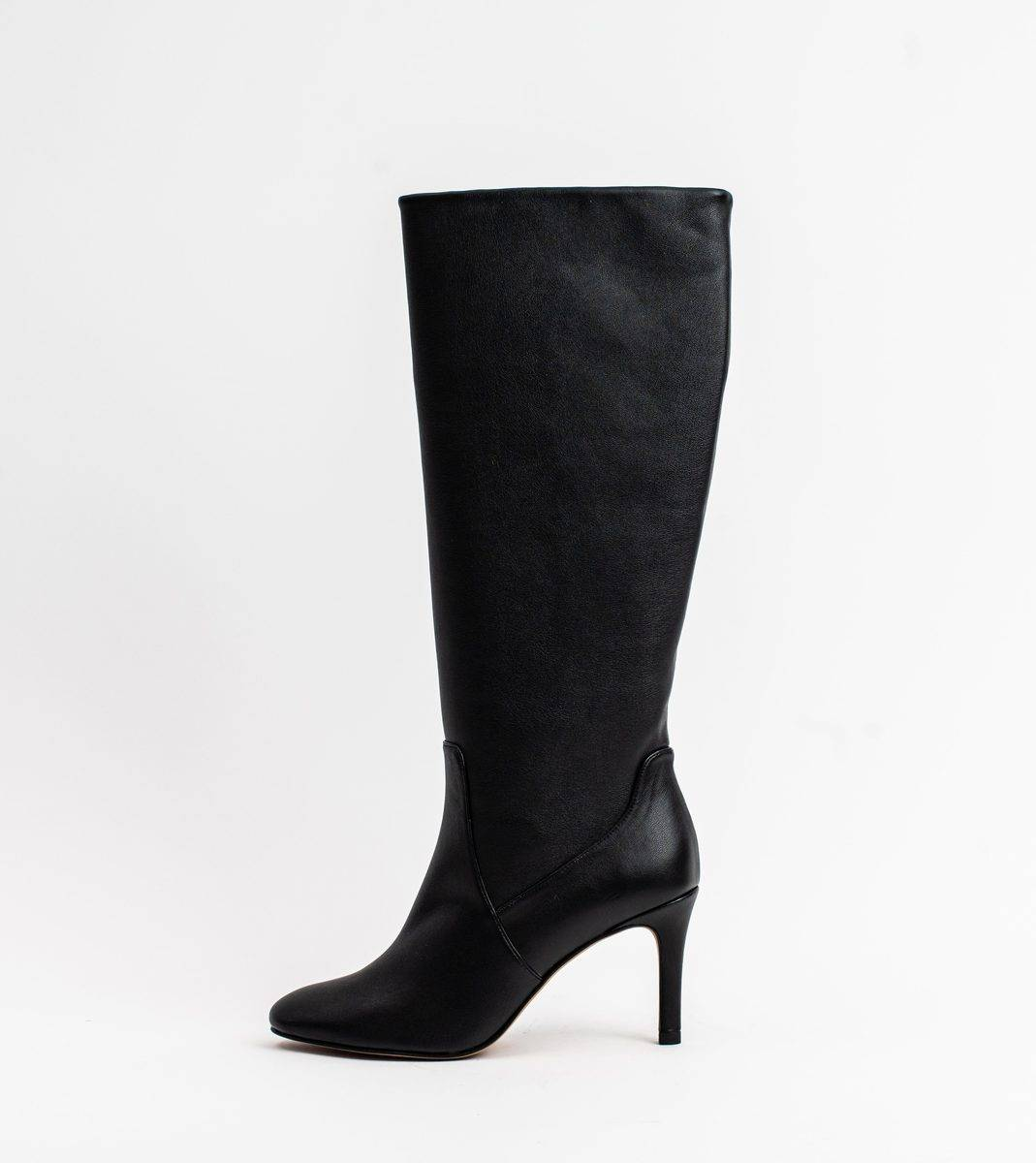 Allkind Chloe Black Vegan Leather Heeled Long Boot