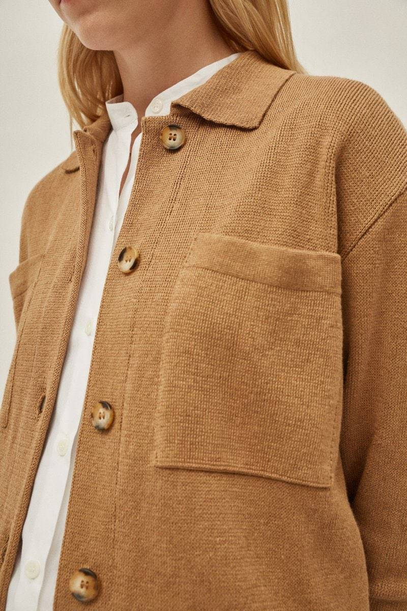 The Linen Cotton Overshirt - Camel