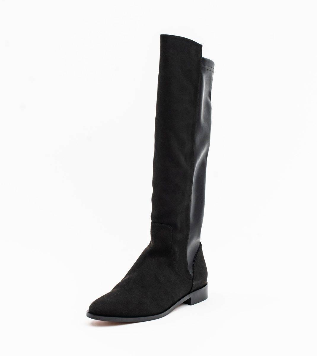 Allkind Grace Black Two Tone Vegan Long Flat Boot