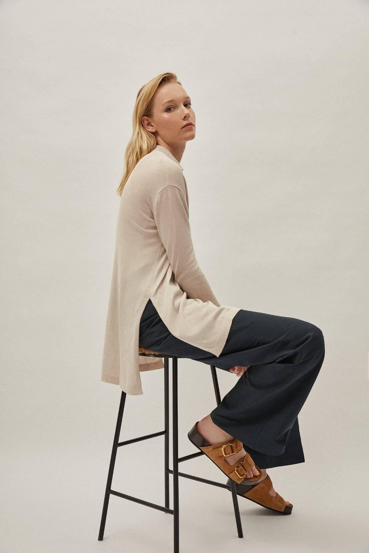 Artknit Studios The Silk Cotton Tunic - Pearl
