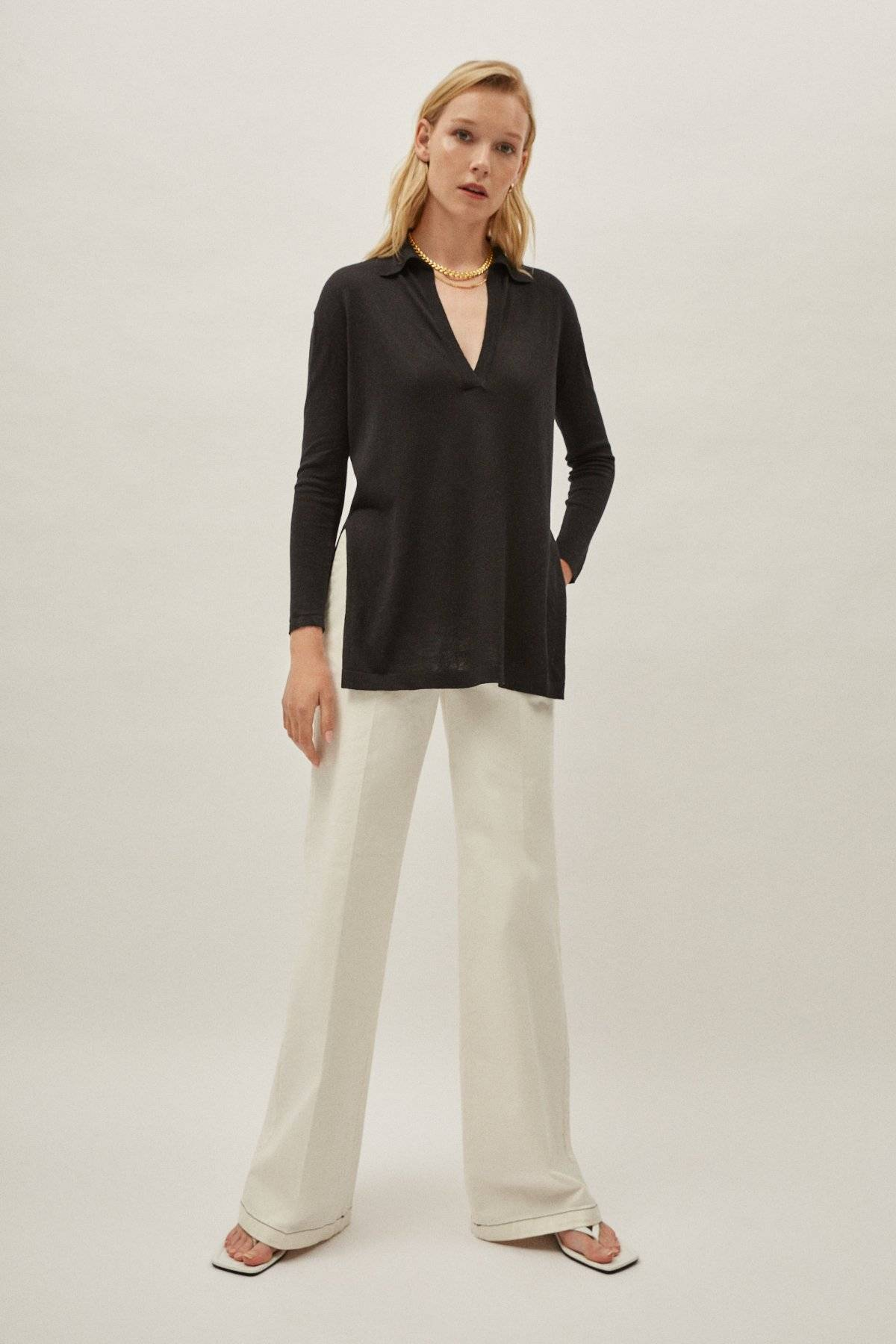 The Silk Cotton Tunic - Black