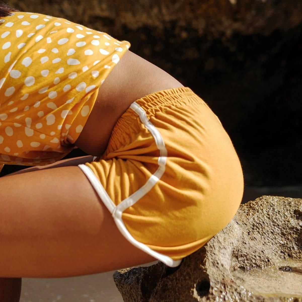 Girl Seaside Runner Recycled Shorts, In Sunflower Yellow