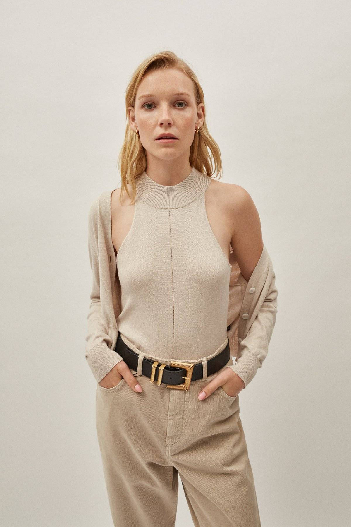 The Silk Cotton A-line Top - Pearl