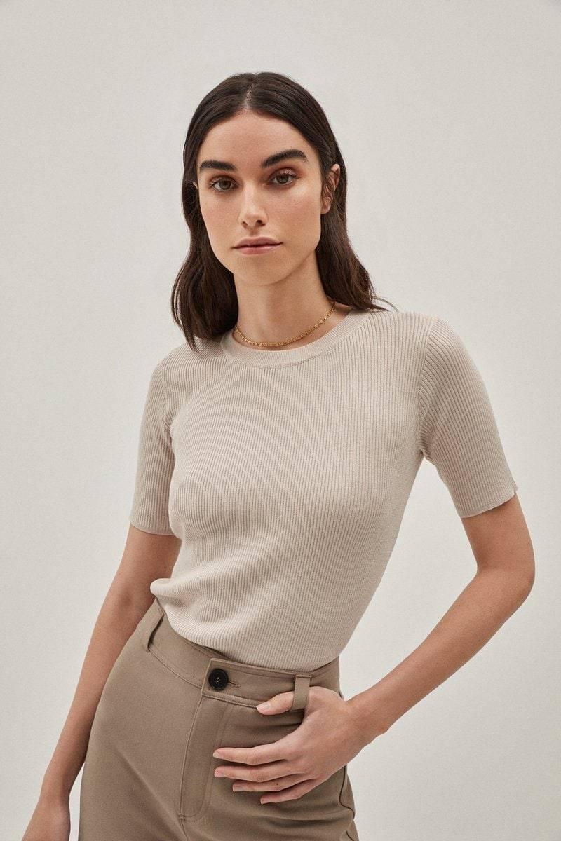 The Silk Cotton T-shirt - Pearl