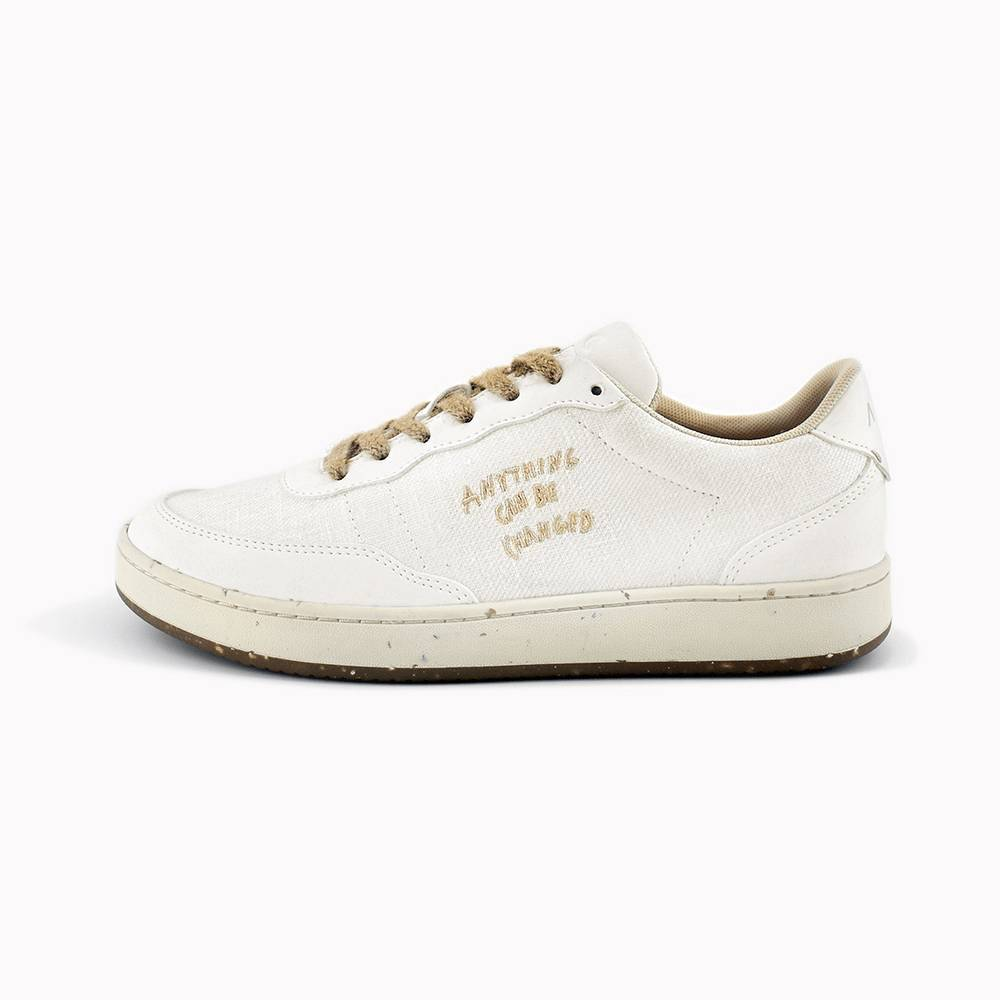 Evergreen White Hemp Skin - Sneakers