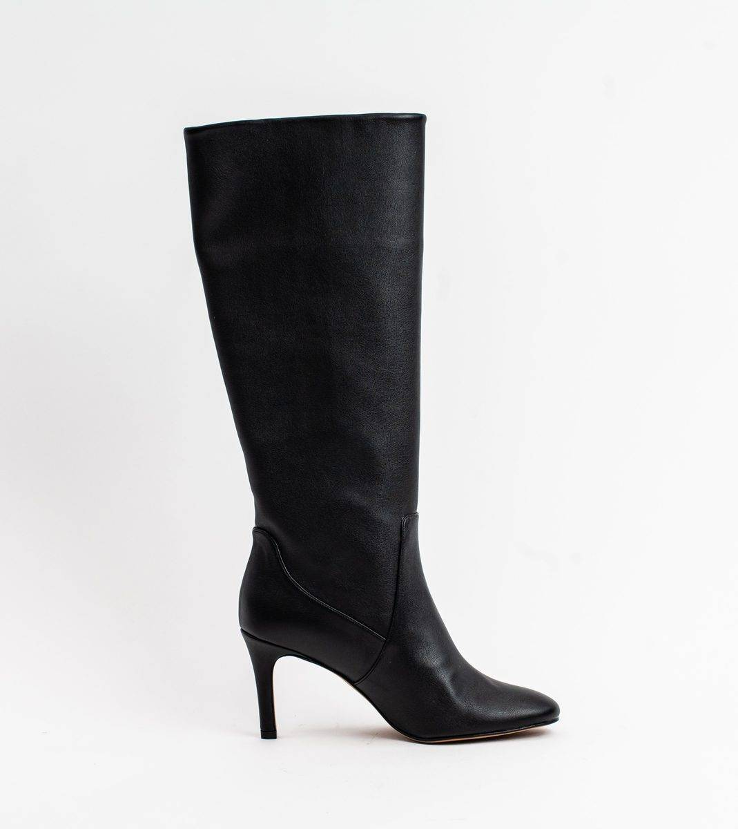Chloe Black Vegan Leather Heeled Long Boot