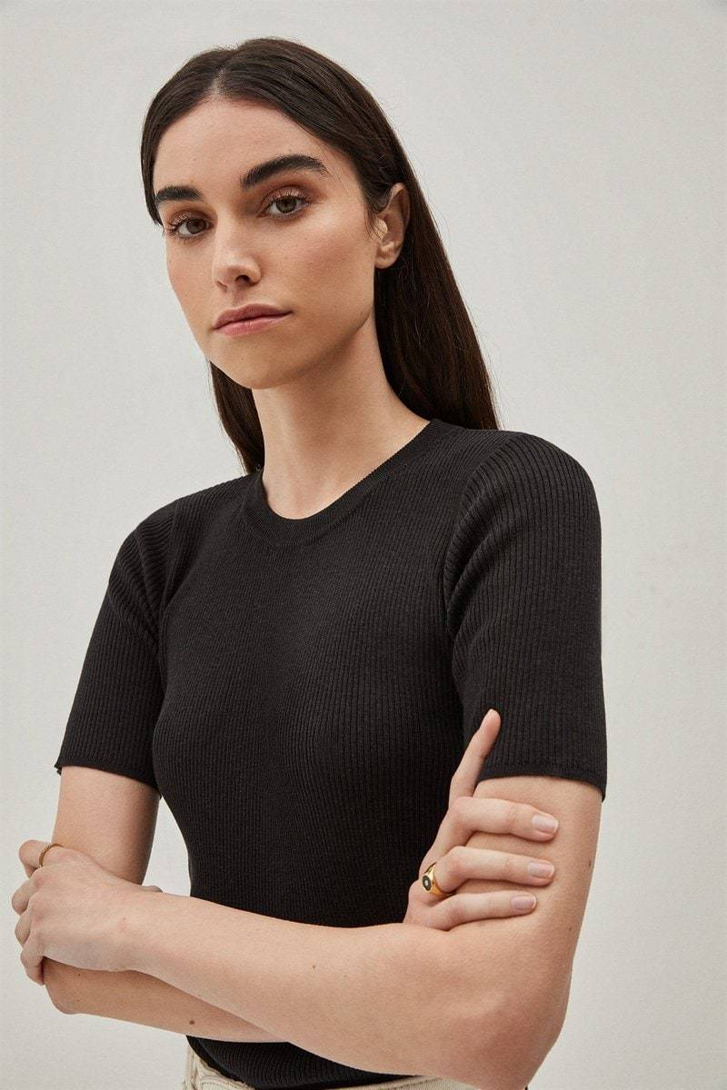 The Silk Cotton T-shirt - Black