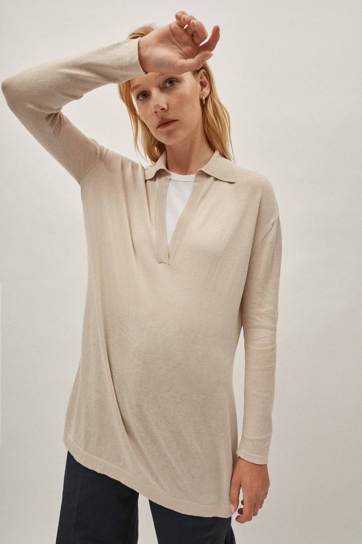 The Silk Cotton Tunic - Pearl
