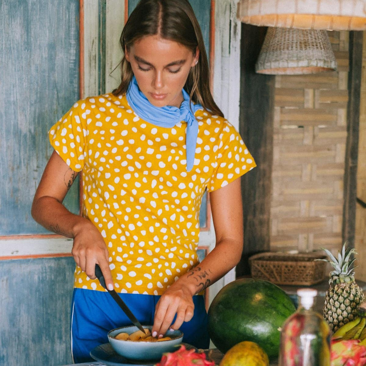 Arnoldi Organic Cotton Shirt, In Golden Saffron