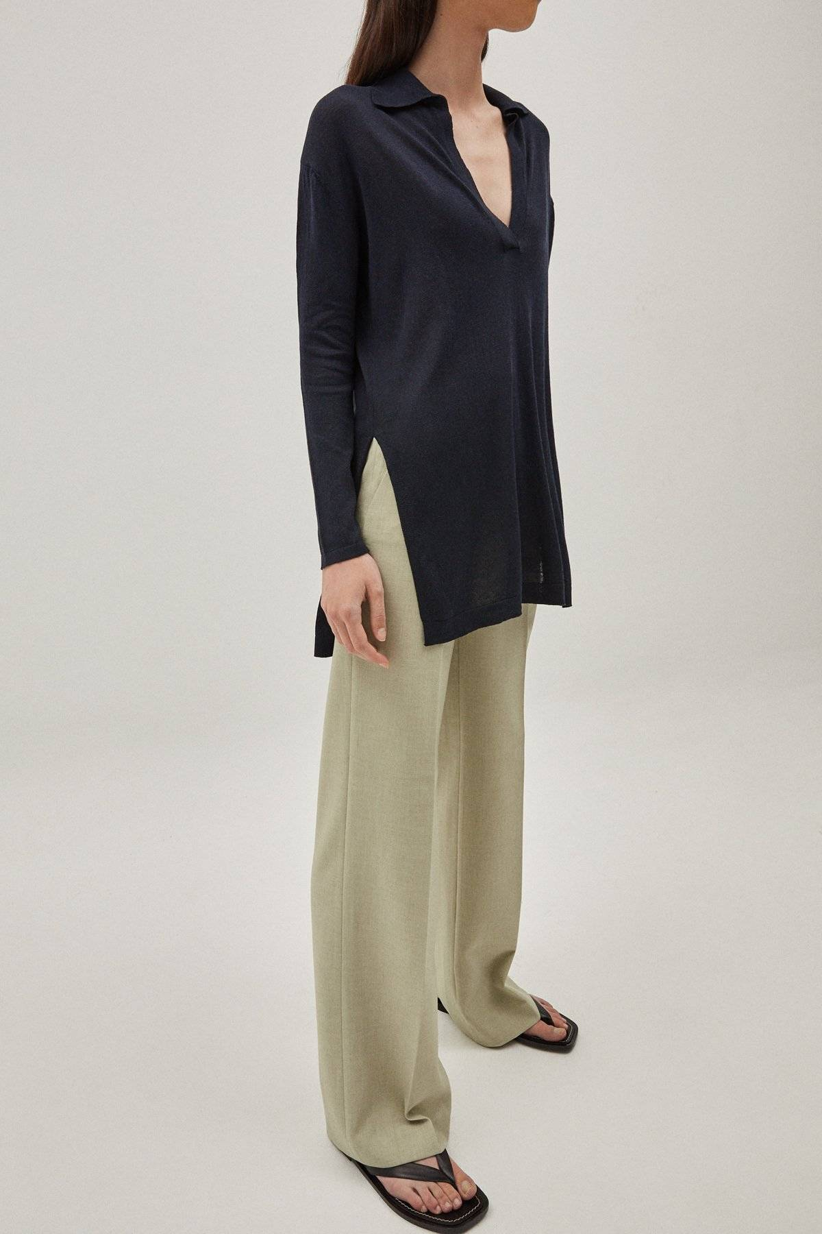 The Silk Cotton Tunic - Blue Navy