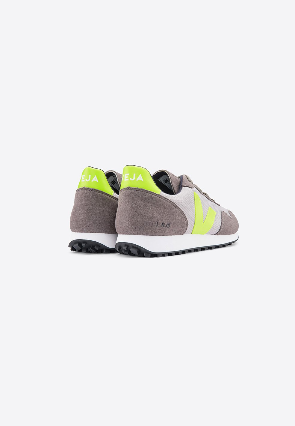 Veja Men SDU Recycled Mesh Silver Yellow Fluoro Sporty Sneakers