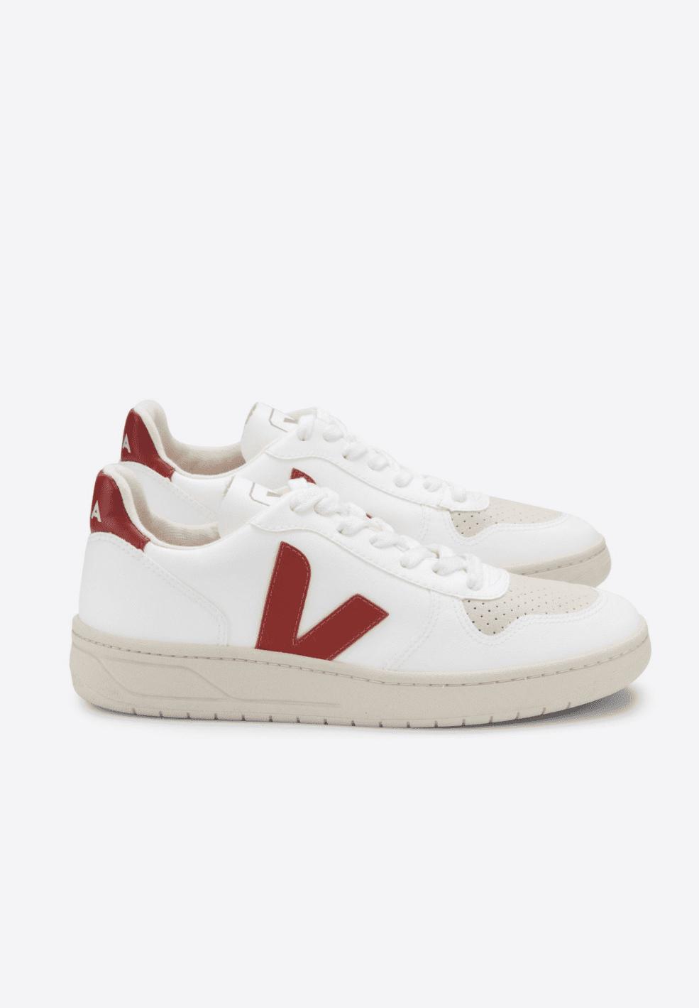 VEJA Men V10 100% Vegan Sneaker White Rouille