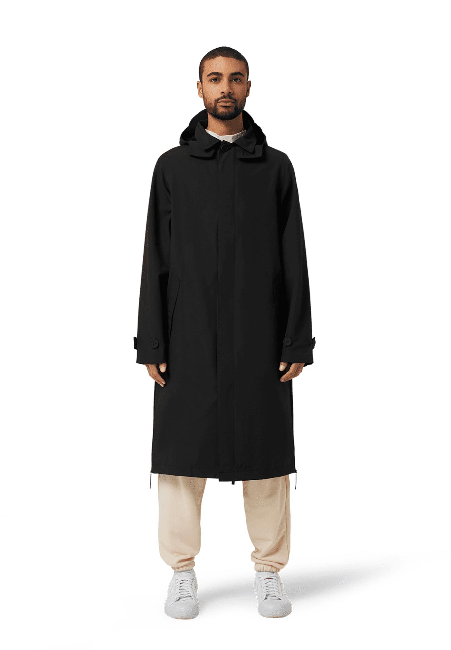 Unisex Original Waterproof Mac Coat Black