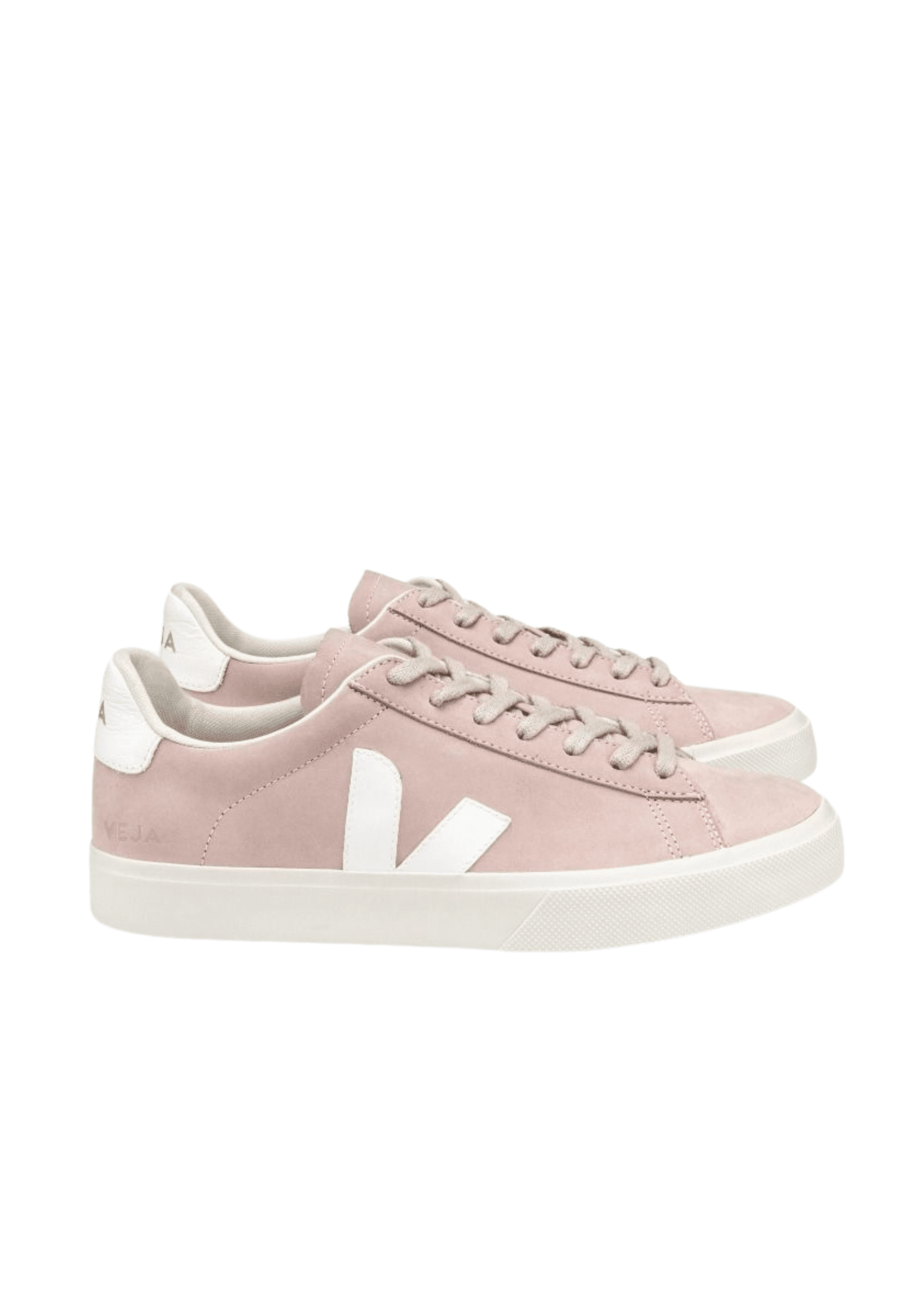 Campo Suede Sneaker Babe White