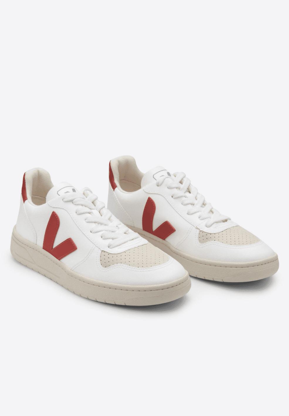 Veja VEJA Men V10 100% Vegan Sneaker White Rouille