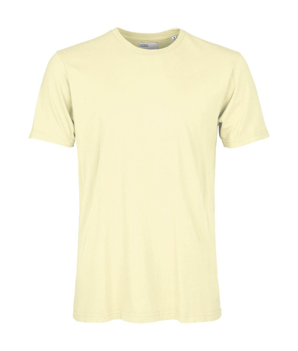 Colorful Standard COLORFUL STANDARD classic organic cotton tee shirt round neck soft yellow (unisex)