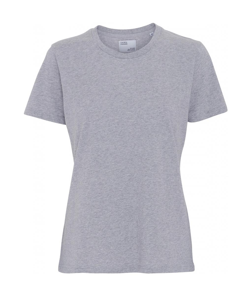 Colorful Standard COLORFUL STANDARD women's light organic cotton tee shirt round neck heather grey