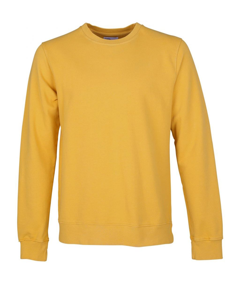 Colorful Standard COLORFUL STANDARD classic organic crew neck sweater burned yellow (unisex)
