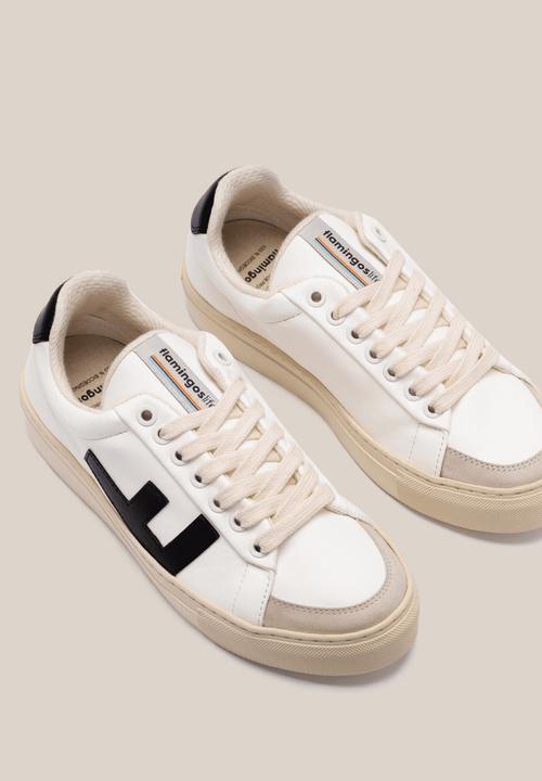 Classic 70's Unisex Sneakers White Black Grey