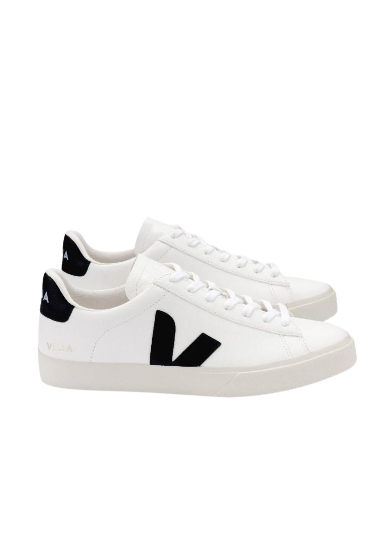 Campo Women Chromefree Leather Sneaker Extra White Black