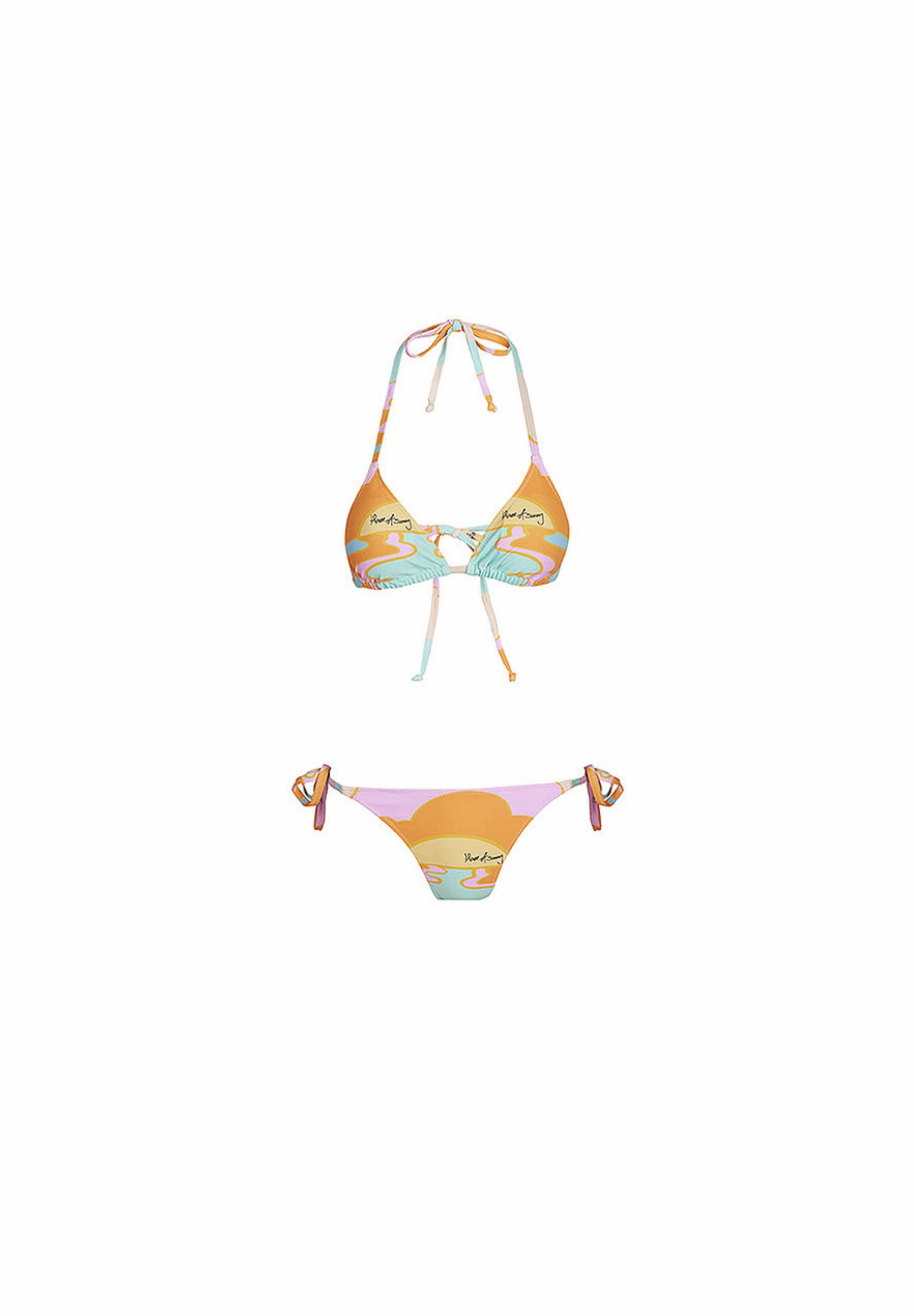 Hawaiian Day Tripper Bikini Papaya Day Tripper Print