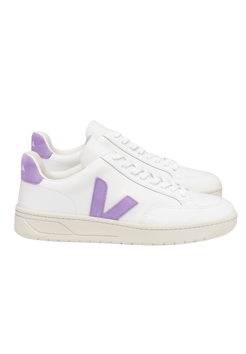 V12 Leather Extra White Lavender Sneakers