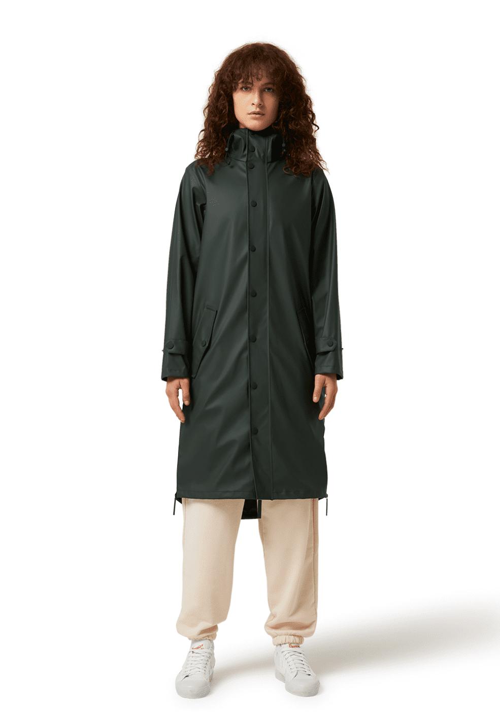 Unisex Original Recycled Rain Coat Deep Forest