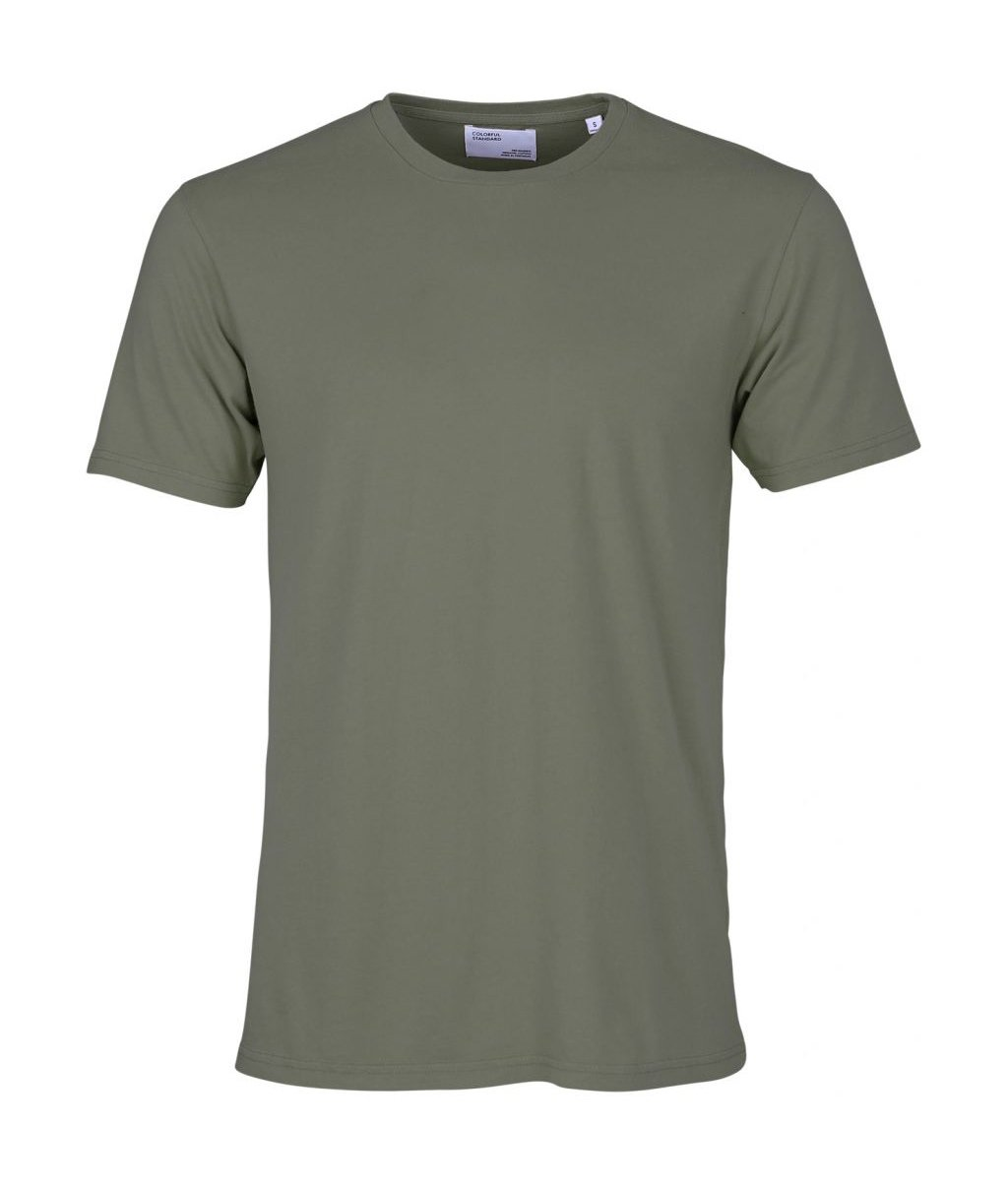 Colorful Standard COLORFUL STANDARD classic organic cotton tee shirt round neck dusty olive (unisex)