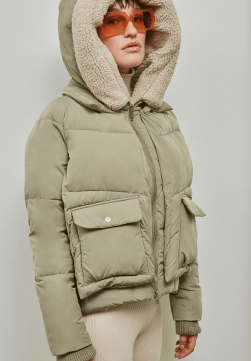 Leicester Puffer Jacket Pale Olive