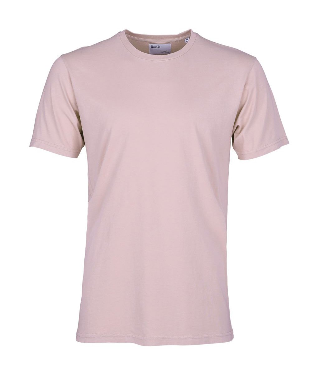 Colorful Standard COLORFUL STANDARD classic organic cotton tee shirt round neck faded pink (unisex)