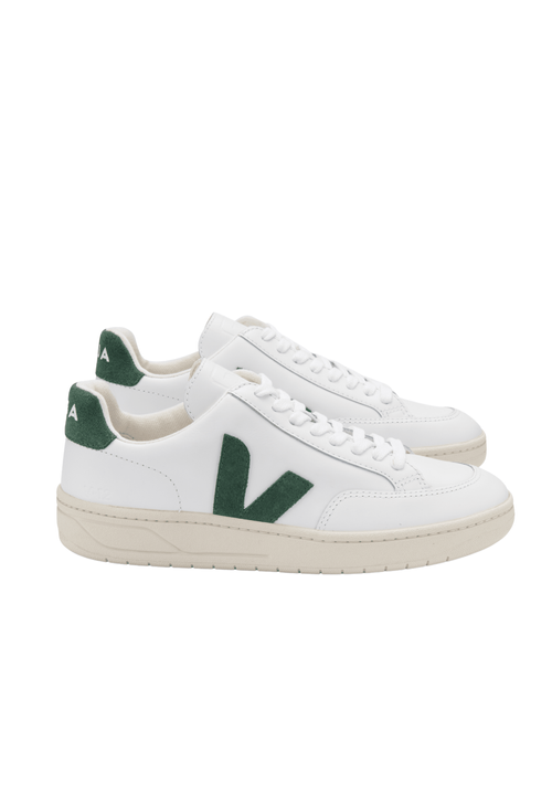 V12 Leather Extra White Cypress Green Sneakers