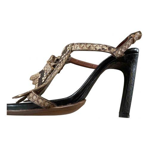 Dries Van Noten Python sandal