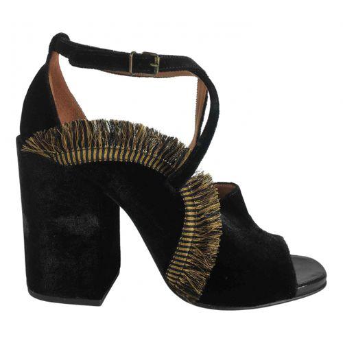 Dries Van Noten Velvet sandals