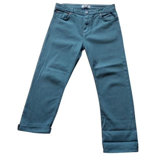 Acne Studios Turquoise Cotton Trousers