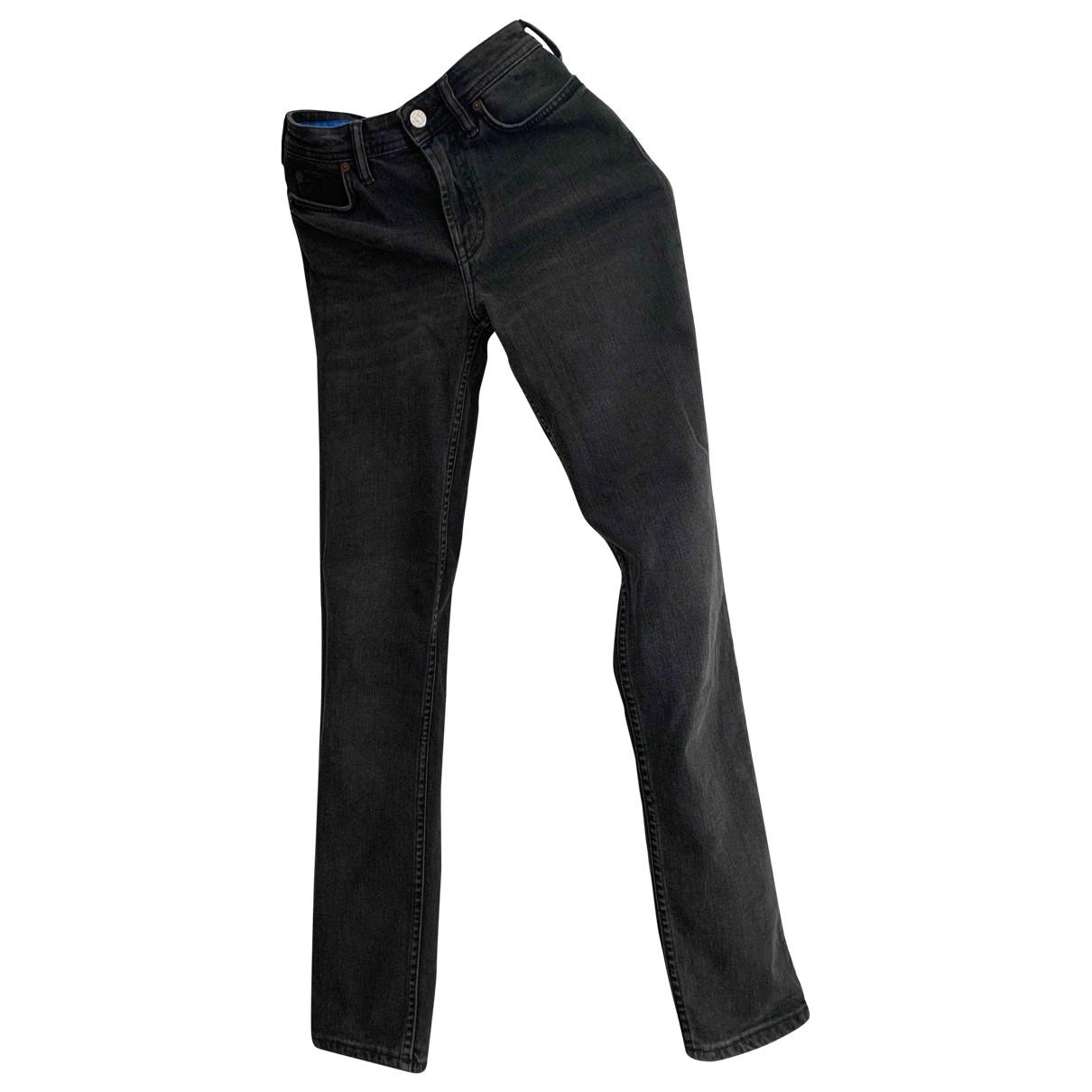 ACNE Acne Studios Grey Cotton Jeans Blå Konst