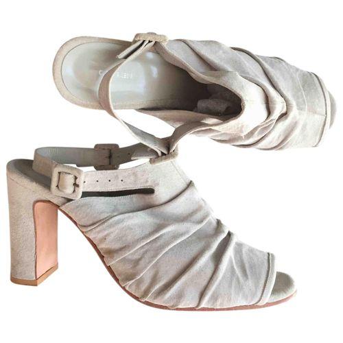 Osklen Grey Suede Sandals