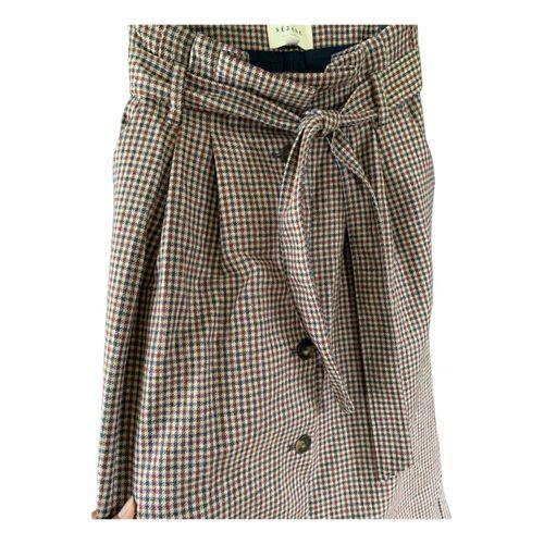 Sézane Fall Winter 2019 wool mid-length skirt