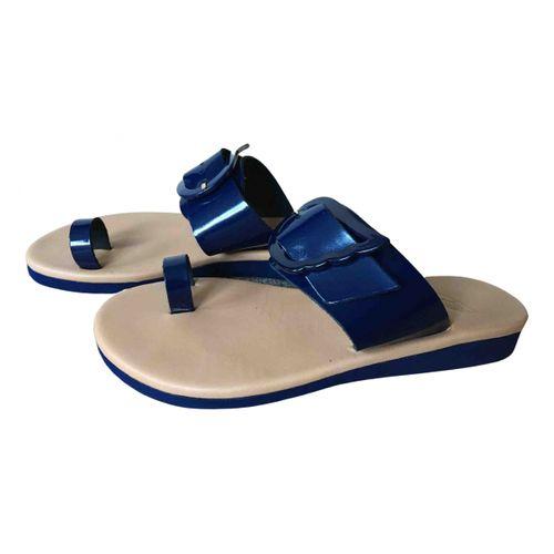 Ancient Greek Sandals Patent leather sandals