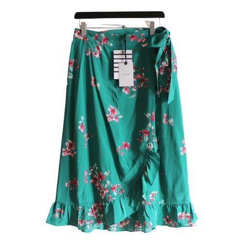 Sézane Spring Summer 2019 silk mid-length skirt