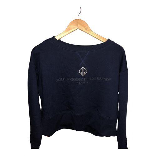 Golden Goose Blue Cotton Knitwear
