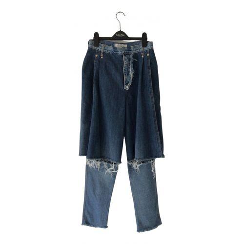 Ksenia Schnaider Blue Cotton Jeans