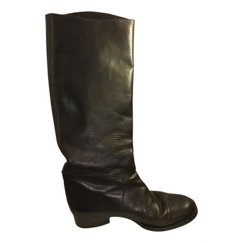 Dries Van Noten Leather riding boots